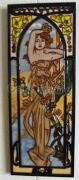 Hand Crafted Ceramic Art Tile Art Nouveau Style Lady